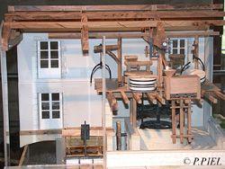 Maquette dynamique du Moulin des Loges, été 2003